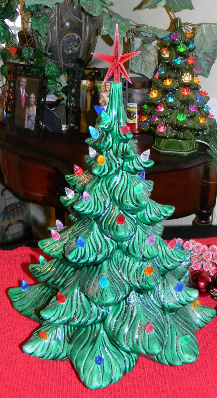Ceramic Christmas Tree Old Fashioned Grandmothers Estate