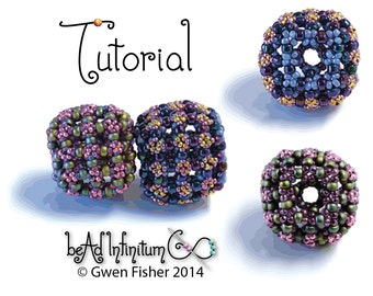 TUTORIAL Puff Beaded Bead with Super Right Angle Weave and Embellishment