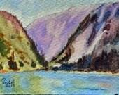Art watercolor original painting mini art under 25 decor small den office painting wall art painting original