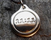 11:11 - Pewter Pendant - Spirit, Spiritual, Earth Changes, Ascension Jewelry
