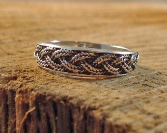 Sterling Silver Cast Braid Ring Multiple sizes