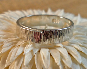 Sterling Silver Textured Wrap Ring Multiple Sizes
