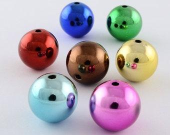 Christmas Ball Beads IV - 14mm - set of 12