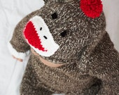 Hand Knit Sock Monkey Costume
