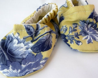 fabric baby shoes, yellow blue, cloth baby shoes, baby shoes, handmade baby shoes, cotton baby shoes, baby accessories,baby gift,baby shower