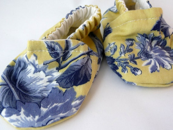 fabric baby shoes yellow blue cloth baby shoes baby shoes