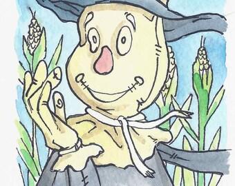 "3"" x 3"" Wizard of Oz Art Card - Scarecrow"
