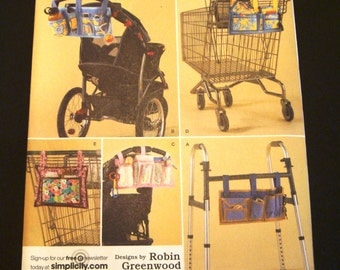 Simplicity 2664 Pattern - Stroller Carryall - Walker Bag Pattern - Sewing Pattern - Shopping Cart Organizer