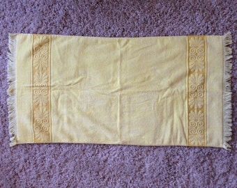Two plush yellow vintage towels