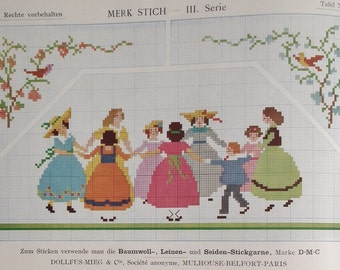Vintage Embroidery Book  - Merk Stich III. Series / Marking Stitch IIIrd Series - Cross Stitch Booklet - 1920s 1930s vintage sewing book
