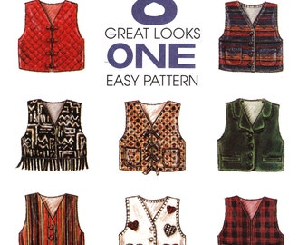 Kids Vest Sewing Pattern - McCalls 7778 - Childrens Waistcoat Pattern - Uncut, FF