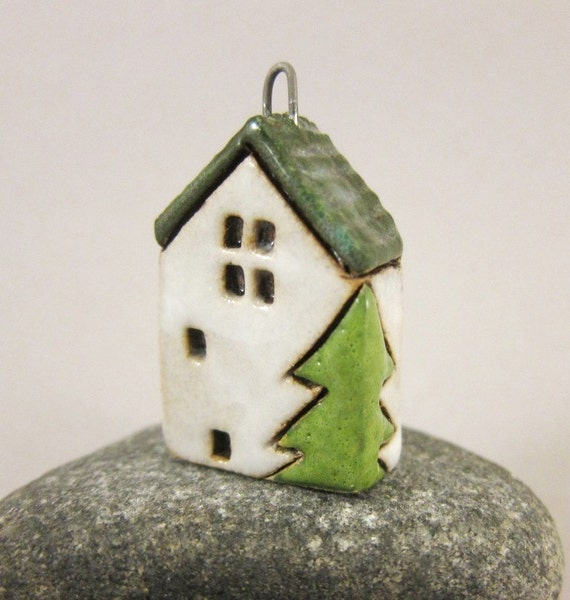 Clay Christmas house collectible