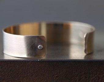 Asymmetrical Diamond Cuff