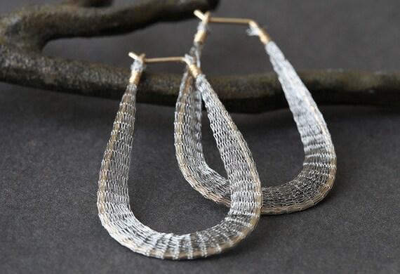 Mesh n Metal Earrings - as seen on Rachel Bilson