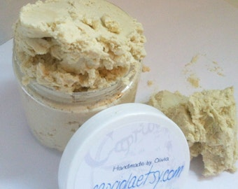 Whipped-Up Foamy Goat Milk + Honey CREAM Soap w/ ESSENTIAL Oils | Comfrey, Calendula, Chamomile | creamy frosting soap in a jar 6 oz