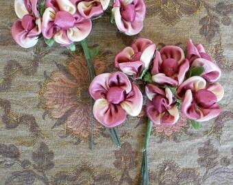 Silk Violet Bouquets