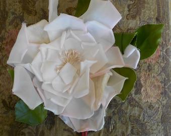 A 1930's Pale Pink Silk Flower