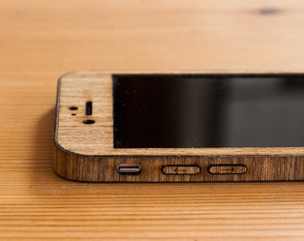 Teak iPhone 7 Wrap - Real Wood iPhone 7 Case - Classic Style - Available in Bamboo, Walnut, Mahogany, Teak, Maple & more!