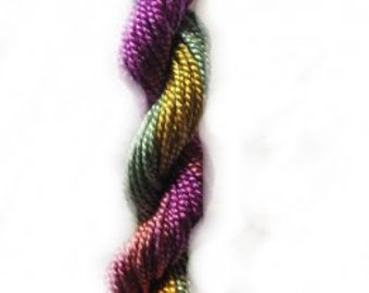 Carnival Shimmer- 10yds Hand-Dyed Fine Silk Cord