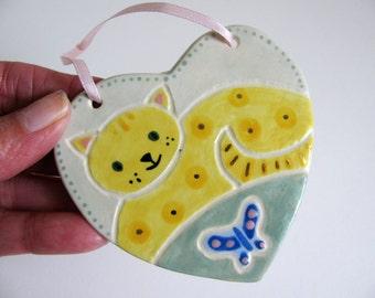 Kitty Heart Ornament