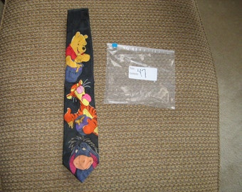 vintage pooh bear 100% polyester  tie