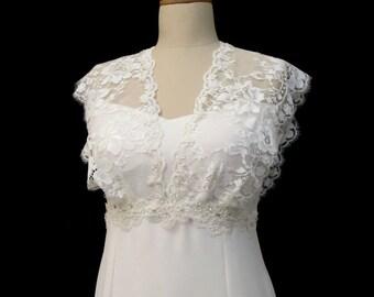 Ivory Lace Bridal Shrug, Wedding Lace Bolero, Wedding Tulle Shrug Scalloped Edge, Ivory Wedding Cover Up, Lace Shrugs, Lace Wedding Top