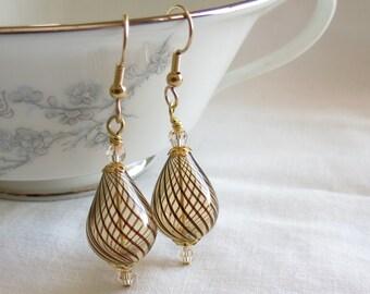 Blown Glass Ornament Earrings