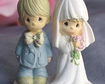 "Precious Moments ® ""The Lord Bless You and Keep You"" Small Wedding Cake Topper Figurine - 704418"