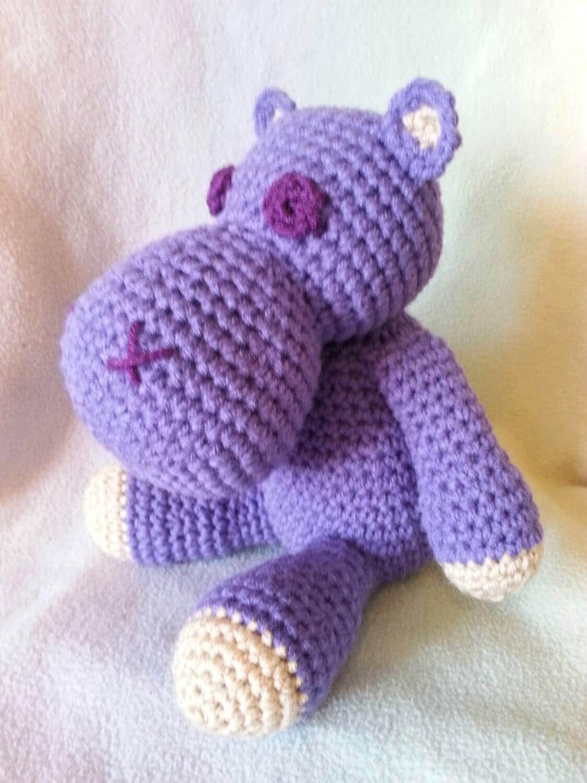 Crochet stuffed hippo amigurumi crysbritescloset
