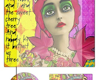 mixed media collage sheet No 2..... A4 DiGiTaL CoLLaGe whimsical JoUrNaL ImAgEs