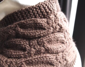 Instant Download pdf Hand Knitting Pattern  - Cork  Scarf Pattern