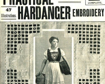 How to make Victorian Hardangen, Hardenger, Embroidery-  vintage instructions pdf email delivery