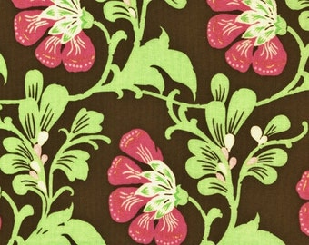 Amy Butler, Daisy Chain, Sweet Jasmine, Brown Fabric, Rowan Westminster, Designer Cotton Quilt Fabric, Floral Fabric, Quilting Fabric