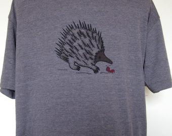 Men or Unisex T Shirt Spiny Ant Eater and Ant sizes Small through XXLarge