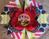 Minnie & Mickey Mouse inspired Classic Custom Boutique Layered Hair Bow