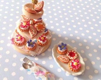 Floral Tarts and Biscuits Scene