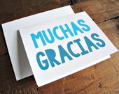 Muchas Gracias - Thank You Greeting Card