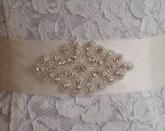 Rhinestone Sash Wedding Sash Crystal Bridal Belt Wedding Dress Belt sashes belts crystal
