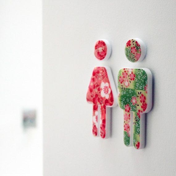 dekor bad sign kleines männlich/weiblich wc zeichen von mooza, Hause ideen