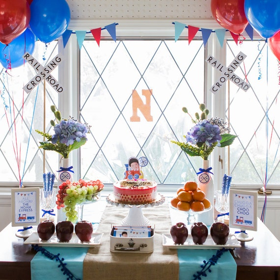 Train Party Decorations Birthday Decor