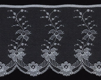 3 inch wide 18yds White lace trim