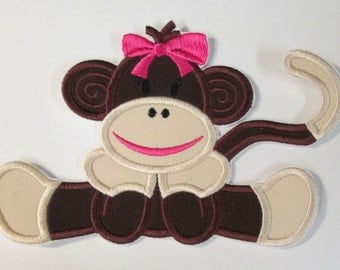 Iron On Applique - Girl Monkey 66542  **please read - color change
