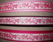 Personalized Wristlet Key Fob- HEARTS