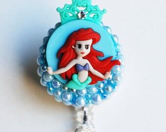 Princess Ariel From Disney's Little Mermaid ID Badge Reel - ID Badge Holders - Zipperedheart