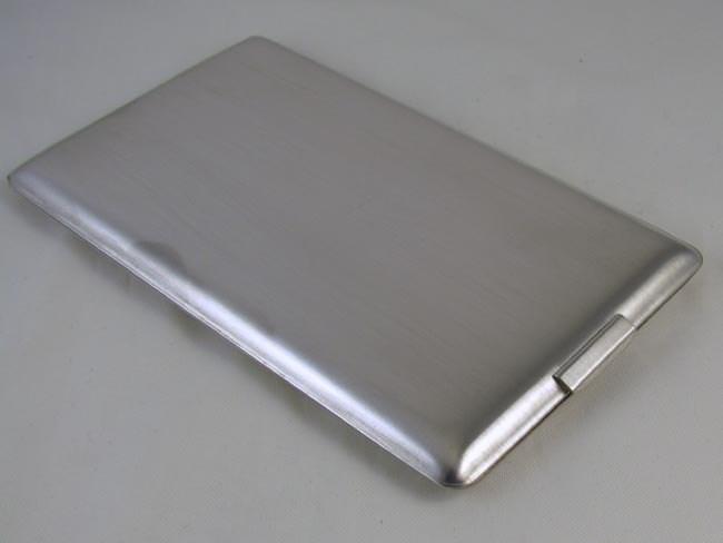 Cigarette case sterling silver 4.7 ounce Art Deco signed Elgin American business card case M125E&C