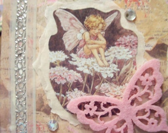 Any Occasion Pink Fairy Butterfly card