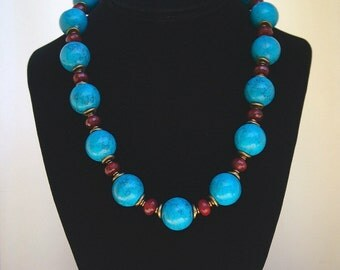 Turquoise Bold Statement Necklace