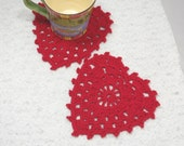 Spa cloth, dish cloth, coaster, wash cloth, 100% cotton, teal, white, red, black, hearts, kitchen, home. Hearts for helpers. 2pk.