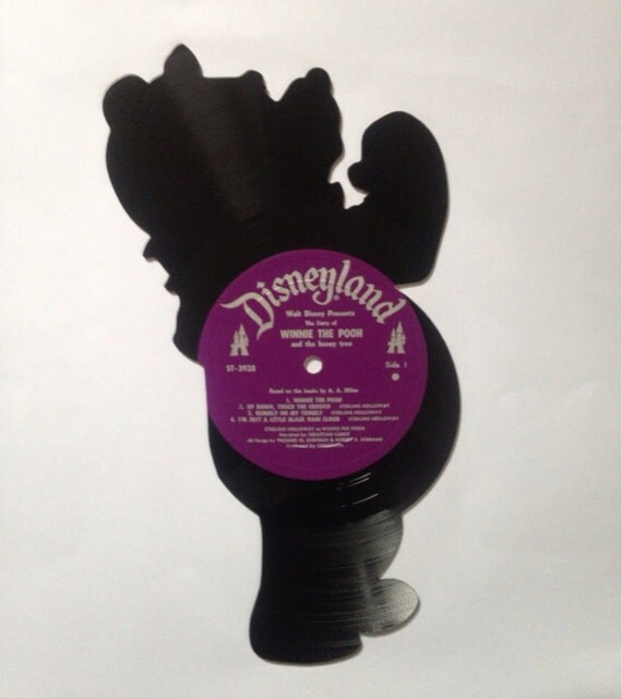 Winnie The Pooh Vinyl Record Silhouette Disney