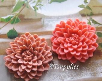 35mm - Large chrysanthemum cabochon (CA819)  Choose your colour